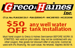 Well water tank coupon