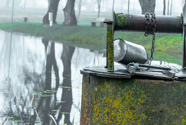 water well at lake